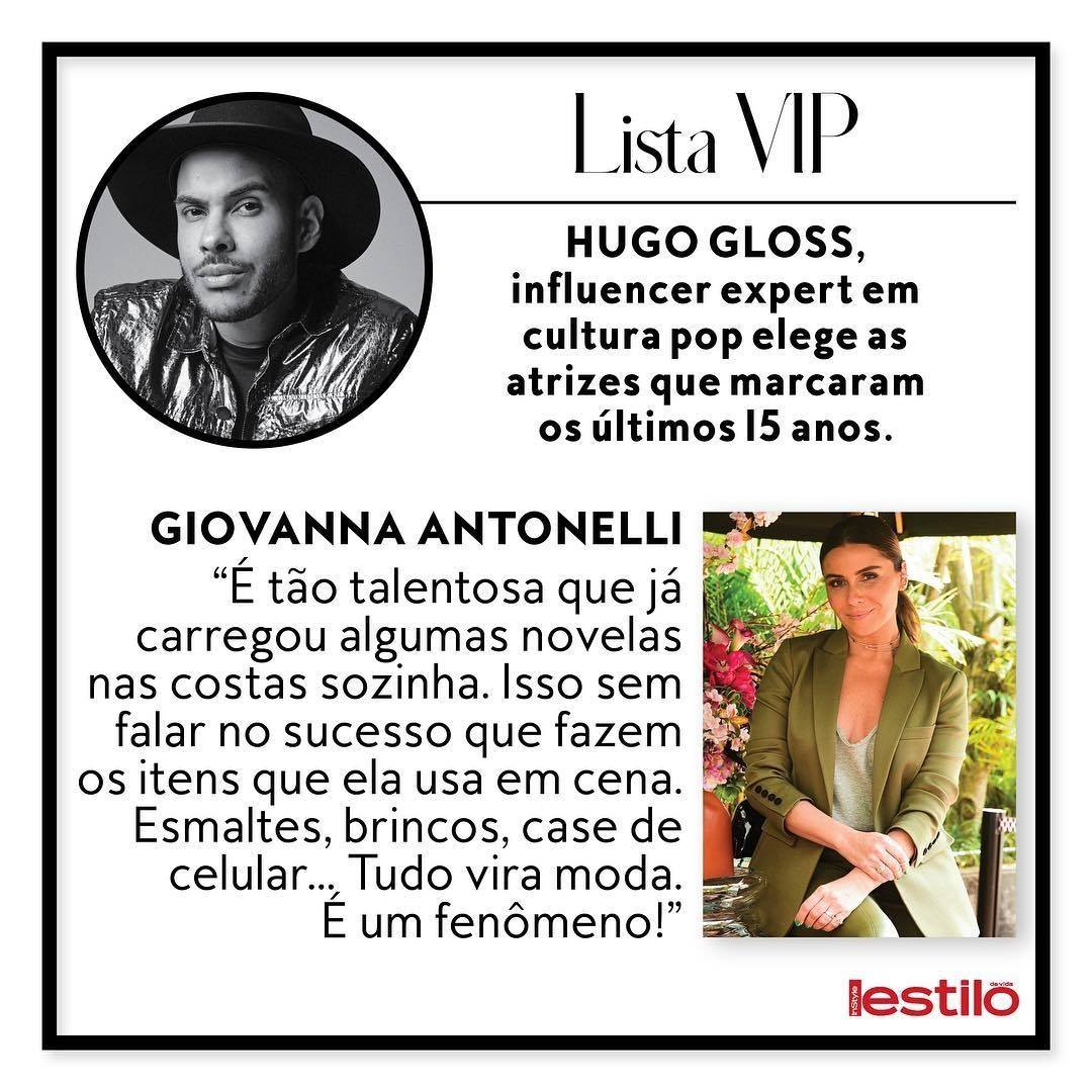 Revista Estilo – Hugo Gloss